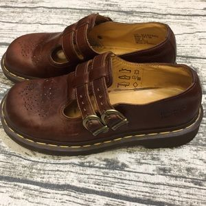 Dr. Martens Brown Leather Mary Jane Shoe 6